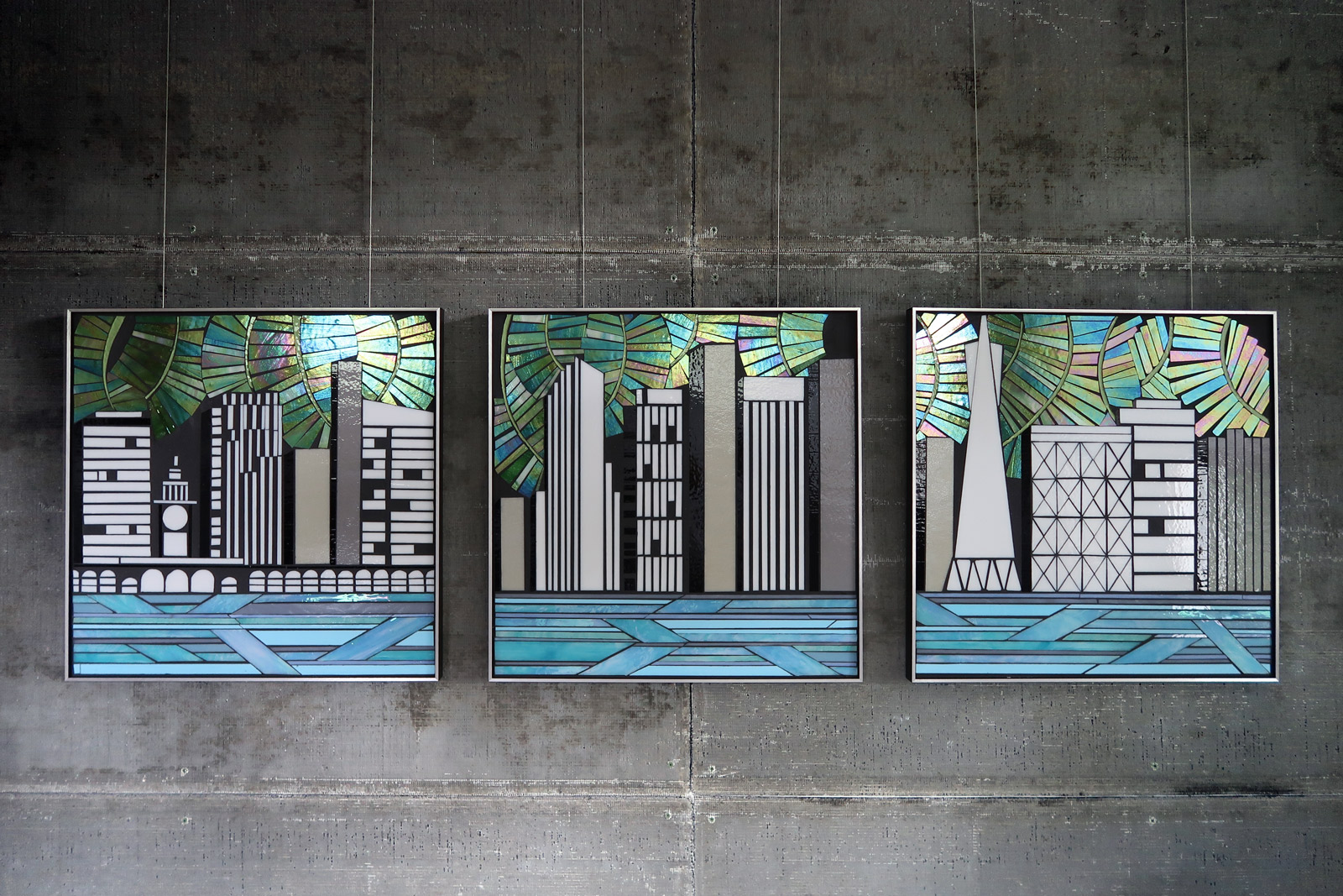 "City 3.1 based on SF skyline | 3@24""x24"" 