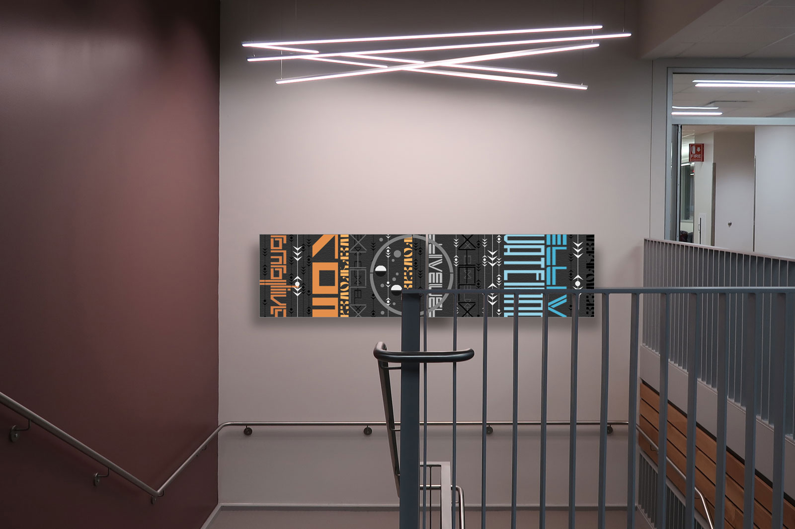 "additional art installation site | EMERGE 2@30""x60"" c Heather Hancock 2019"