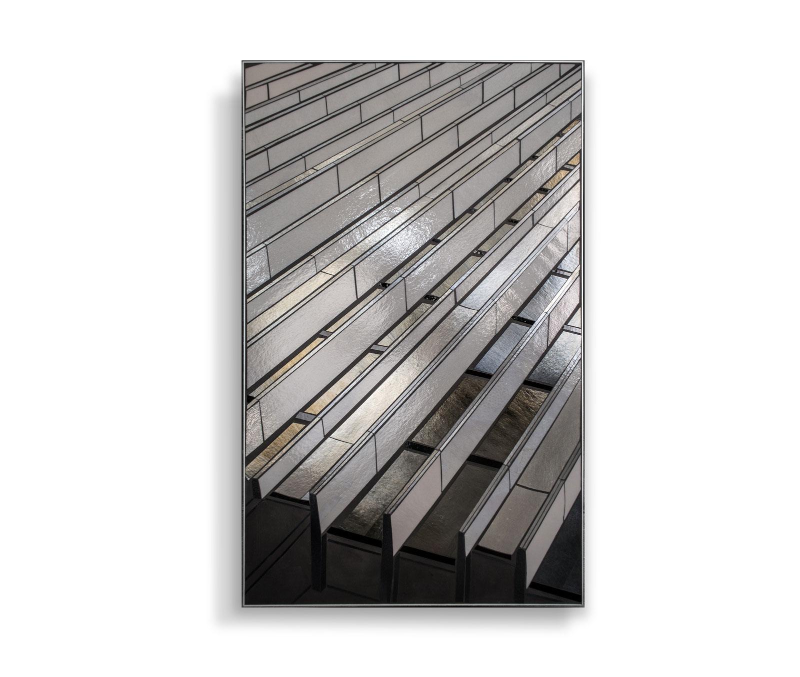 "Reflect 3.7 urban mountain | 48"" x 30"" | glass c Heather Hancock 2019"