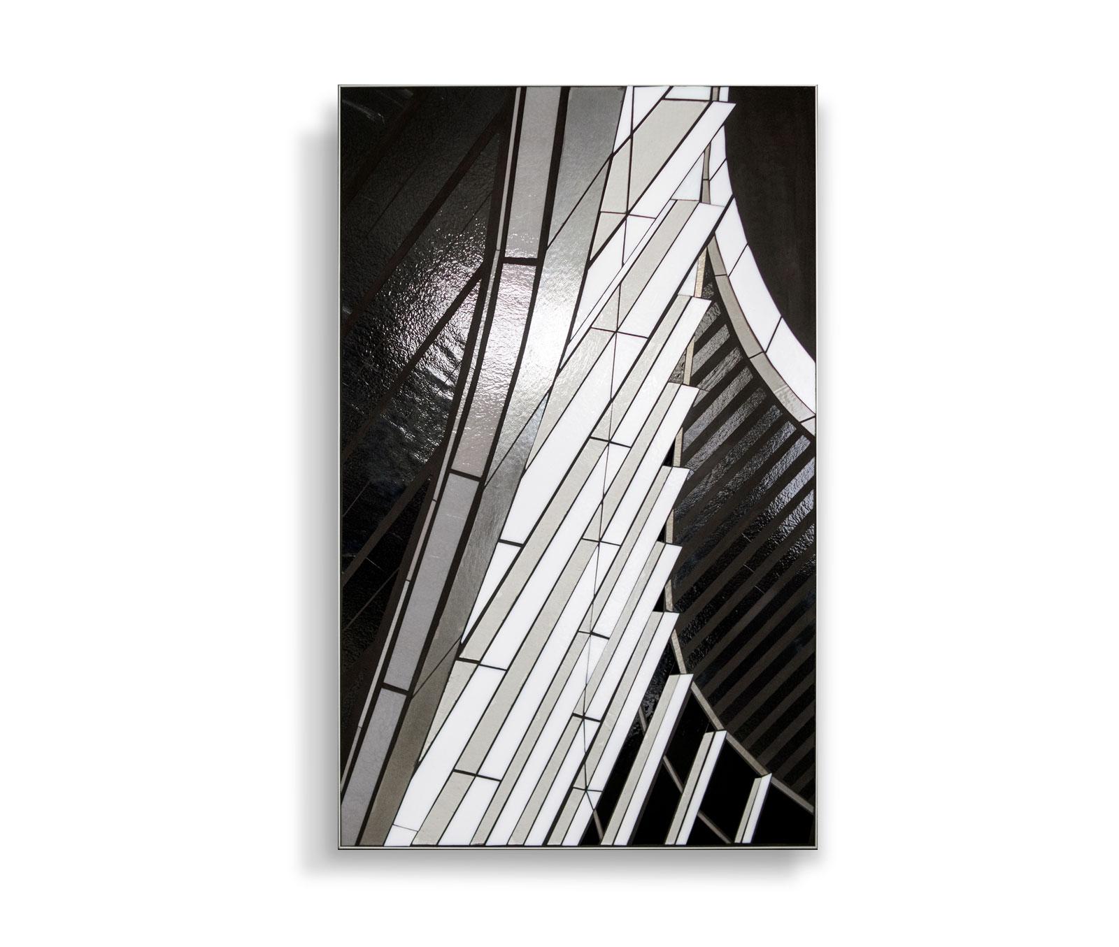 "Reflect 3.8 curving | 48"" x 30"" | glass c Heather Hancock 2019"