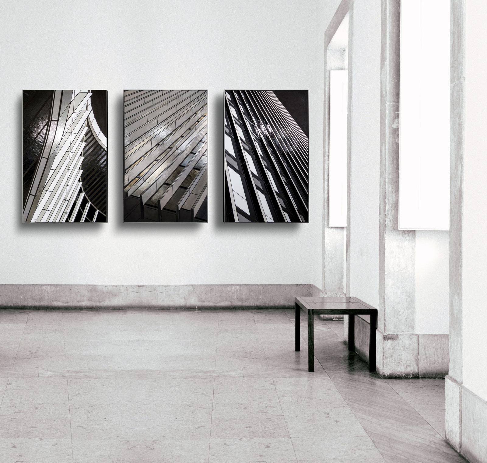"rendering | Reflect triptych | 48""x30"" 