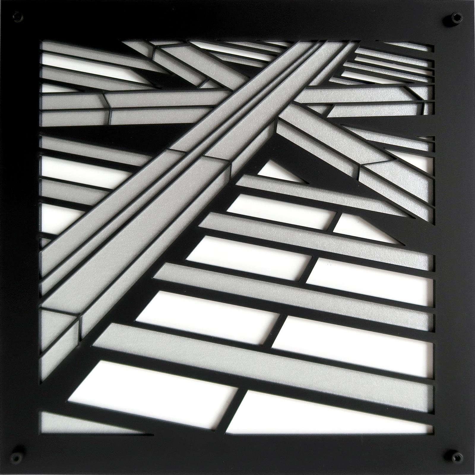 "Crux | lasercut acrylic | 8.5"" c Heather Hancock 2019"