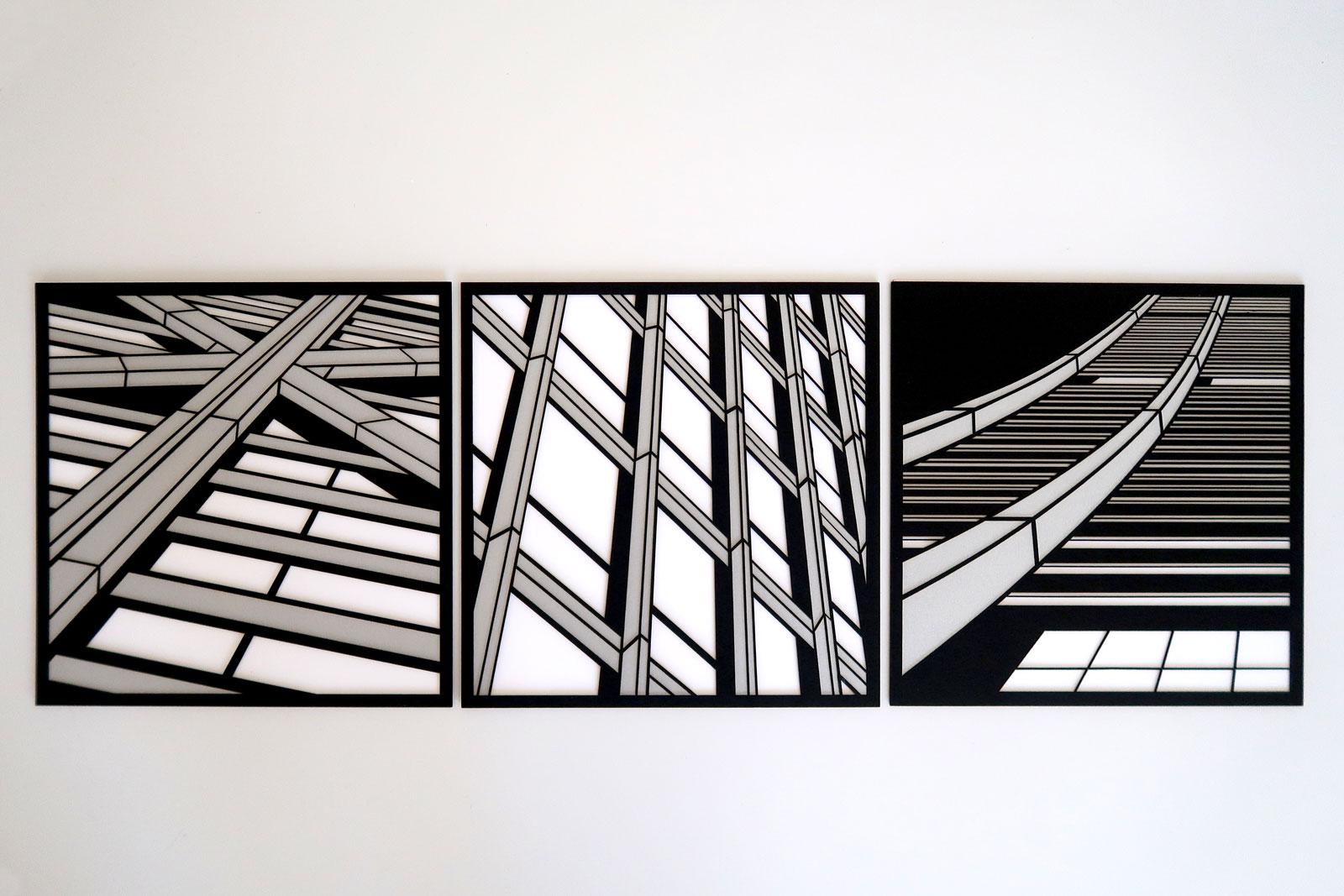 "Crux . Join . Soar | lasercut paper artist prints 8.25"" c Heather Hancock 2019"