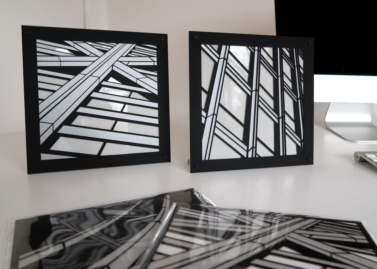 Crux . Join | lasercut acrylic artist prints c Heather Hancock 2019