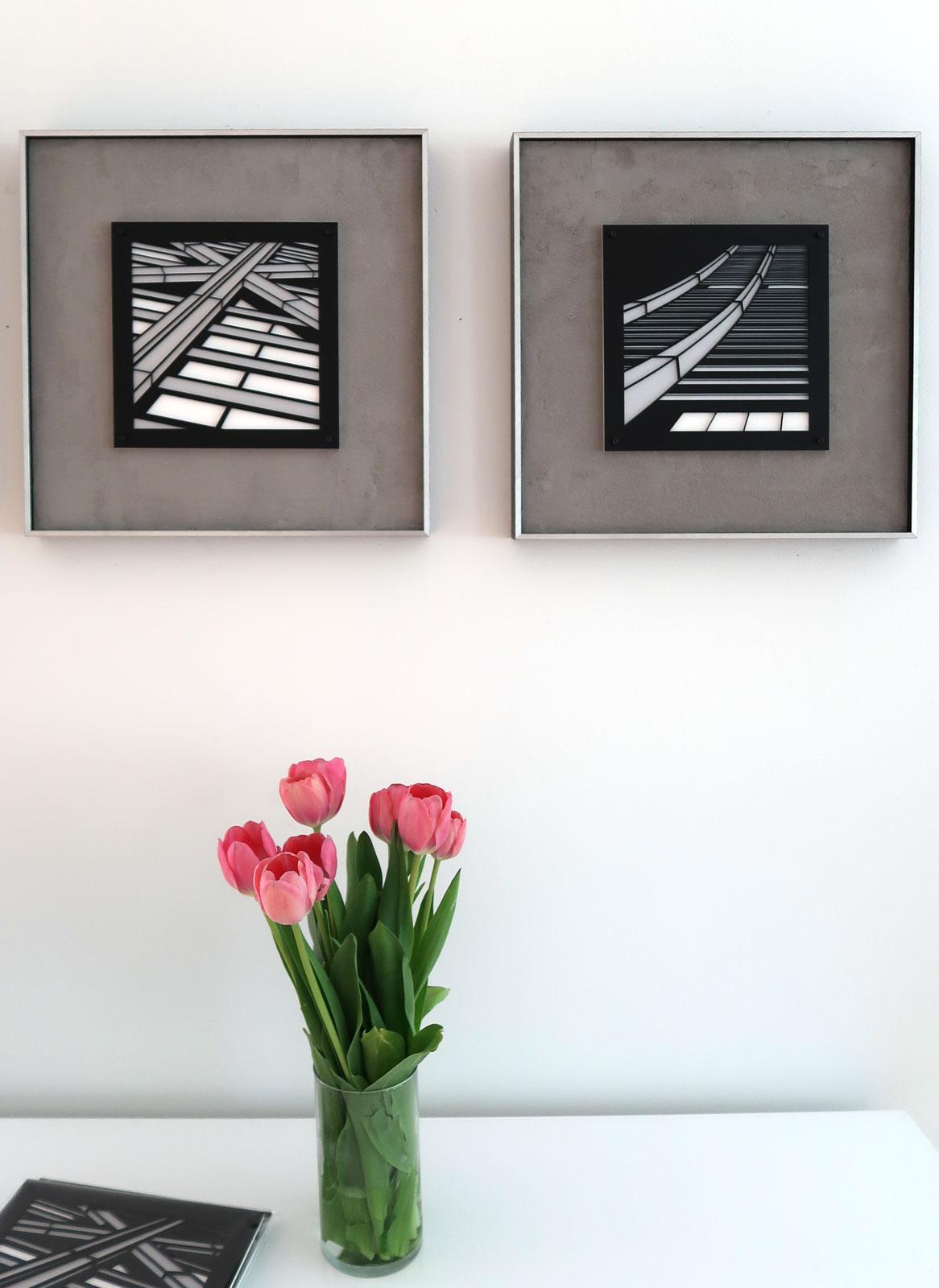 "Crux . Soar | lasercut acrylic artist prints framed 15"" c Heather Hancock 2019"