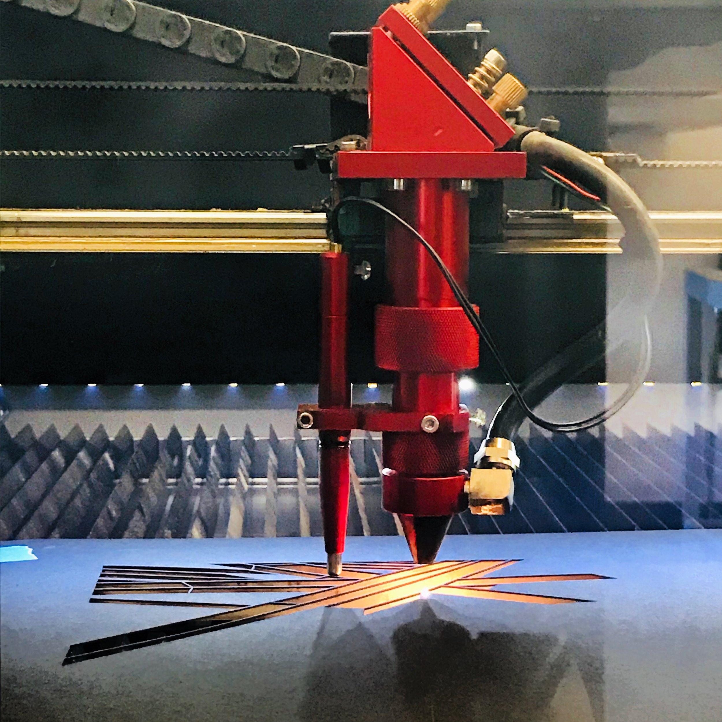 Laser-cut paper & acrylic… -