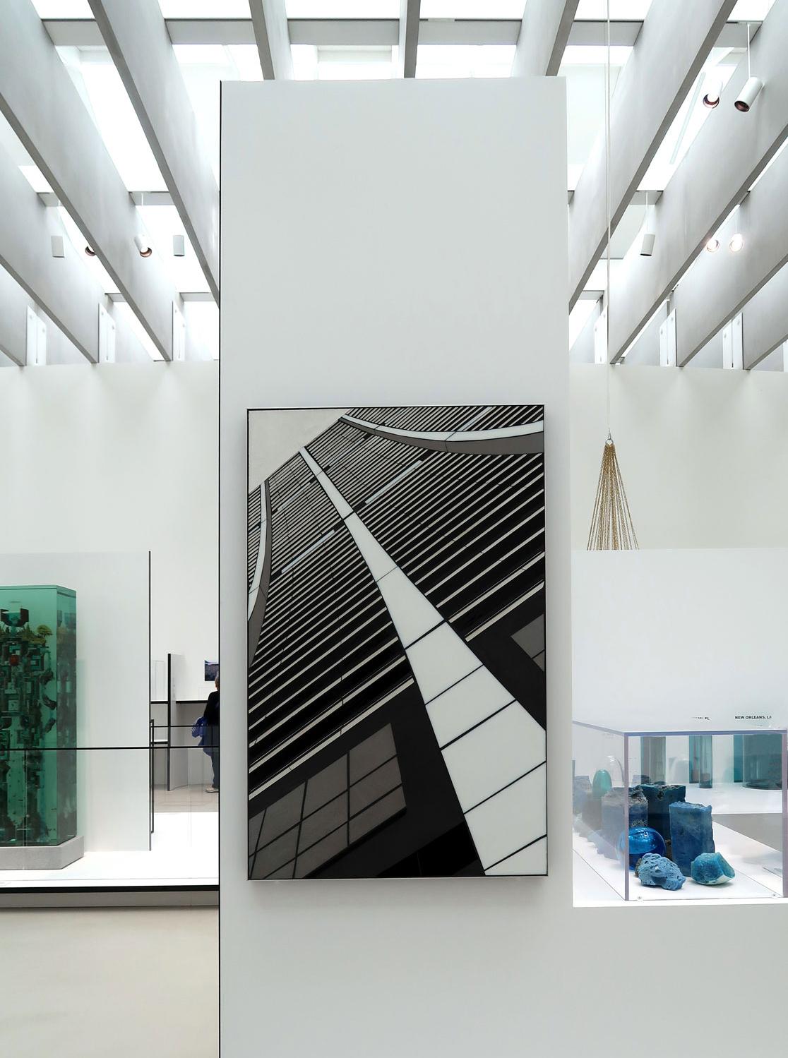 "Reflect 3.2 Curve | 48""x30"" | handcut glass c Heather Hancock 2018  Corning Museum of Glass   New Glass Now  international survey through Jan 2020"