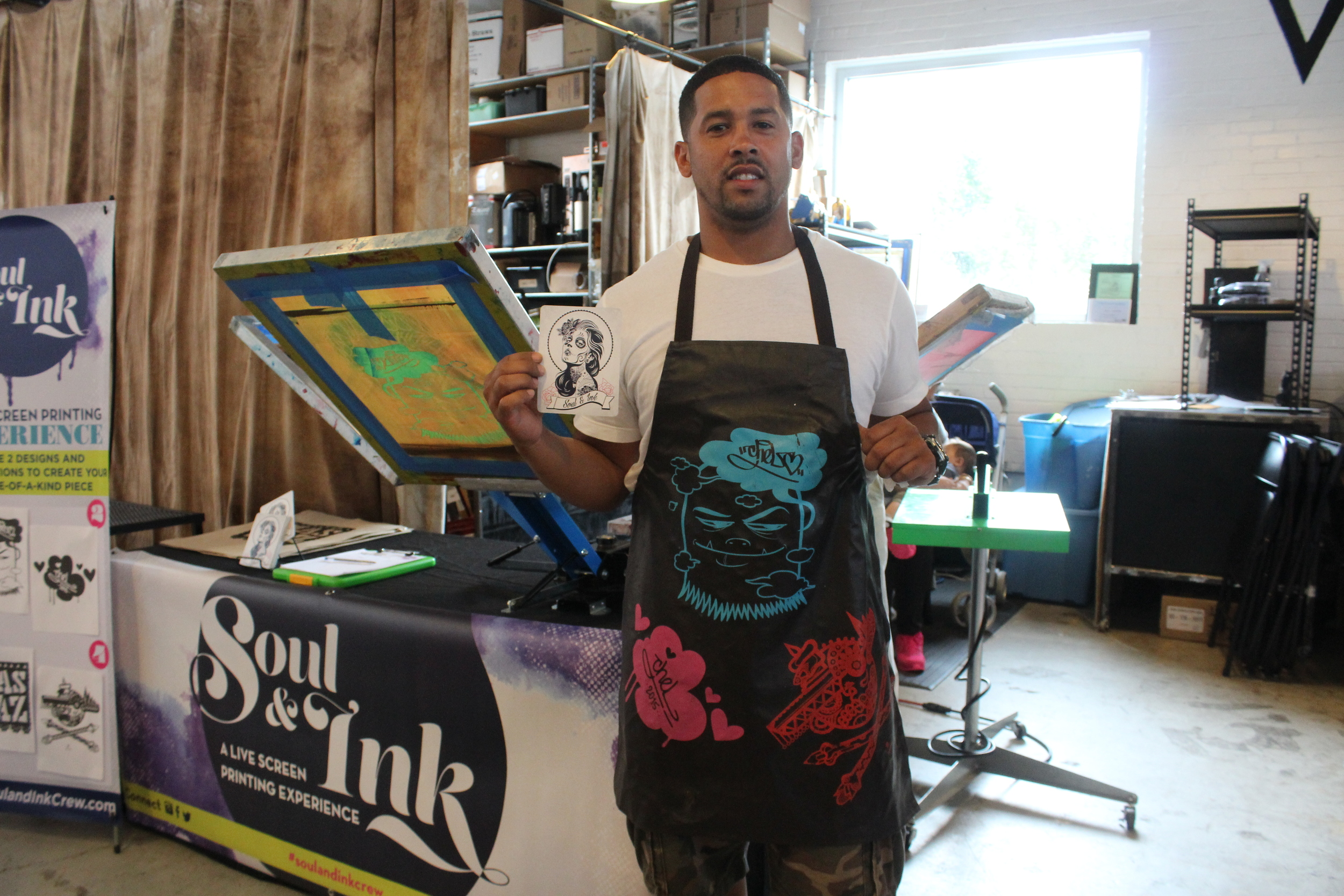 Moses Rivera, Creative Director of BeMoShe, representing Soul & Ink at the SoHy Skate Show