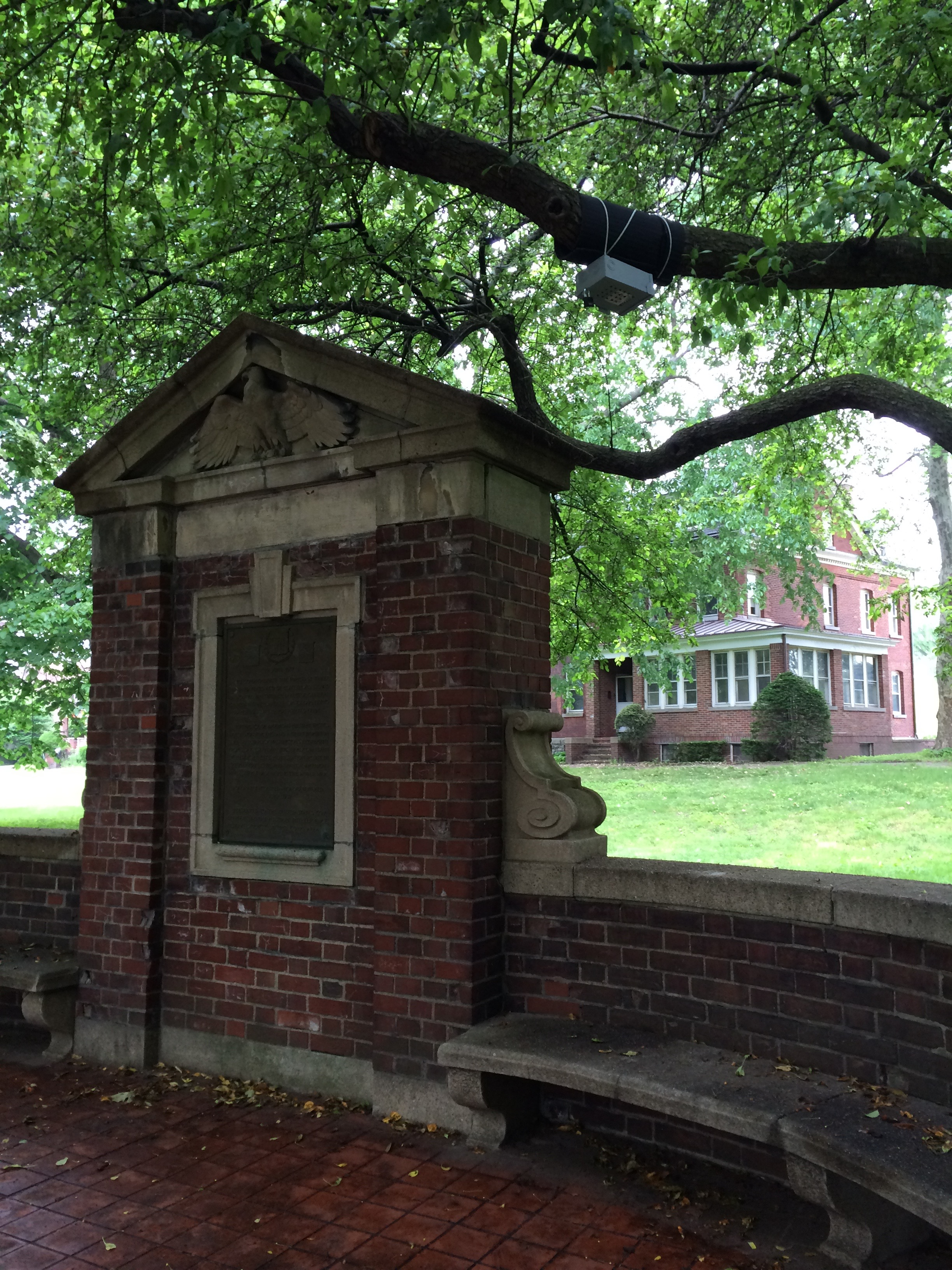 Site V, near a memorial commemorating the purchase of Governors Island, Colonels Row