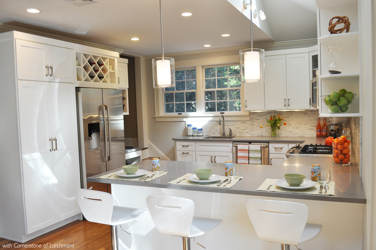 KAM DESIGN LLC_Kitchen Remodel_Soft Modern Kitchen_White Kitchen Cabinets_Modern Kitchen Lighting.jpg
