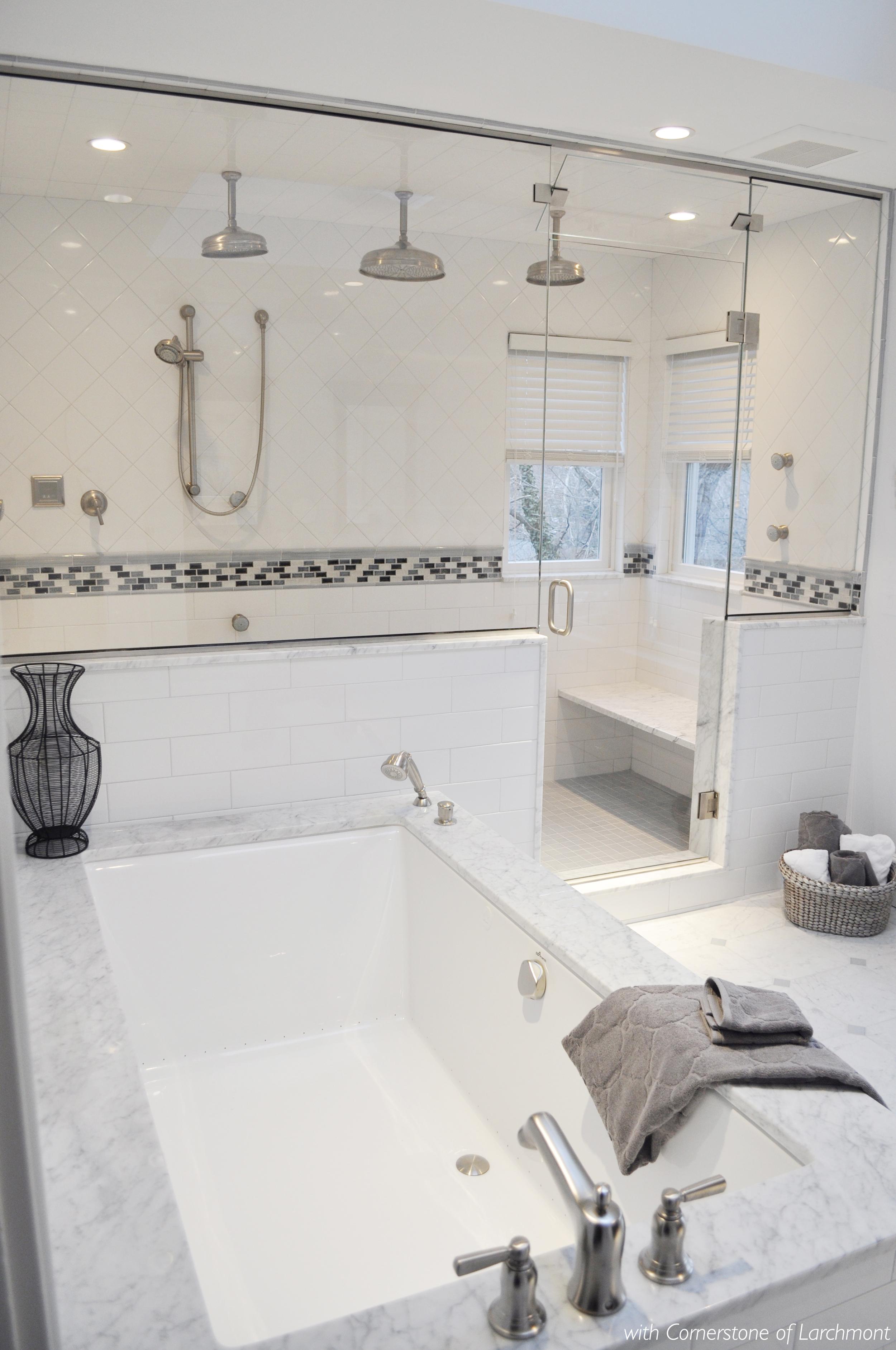 Kim Annick Mitchell_Interior Designer_Larchmont Master Bathroom_Marble Bathroom_White Tile_Tub_Steam Shower.jpg
