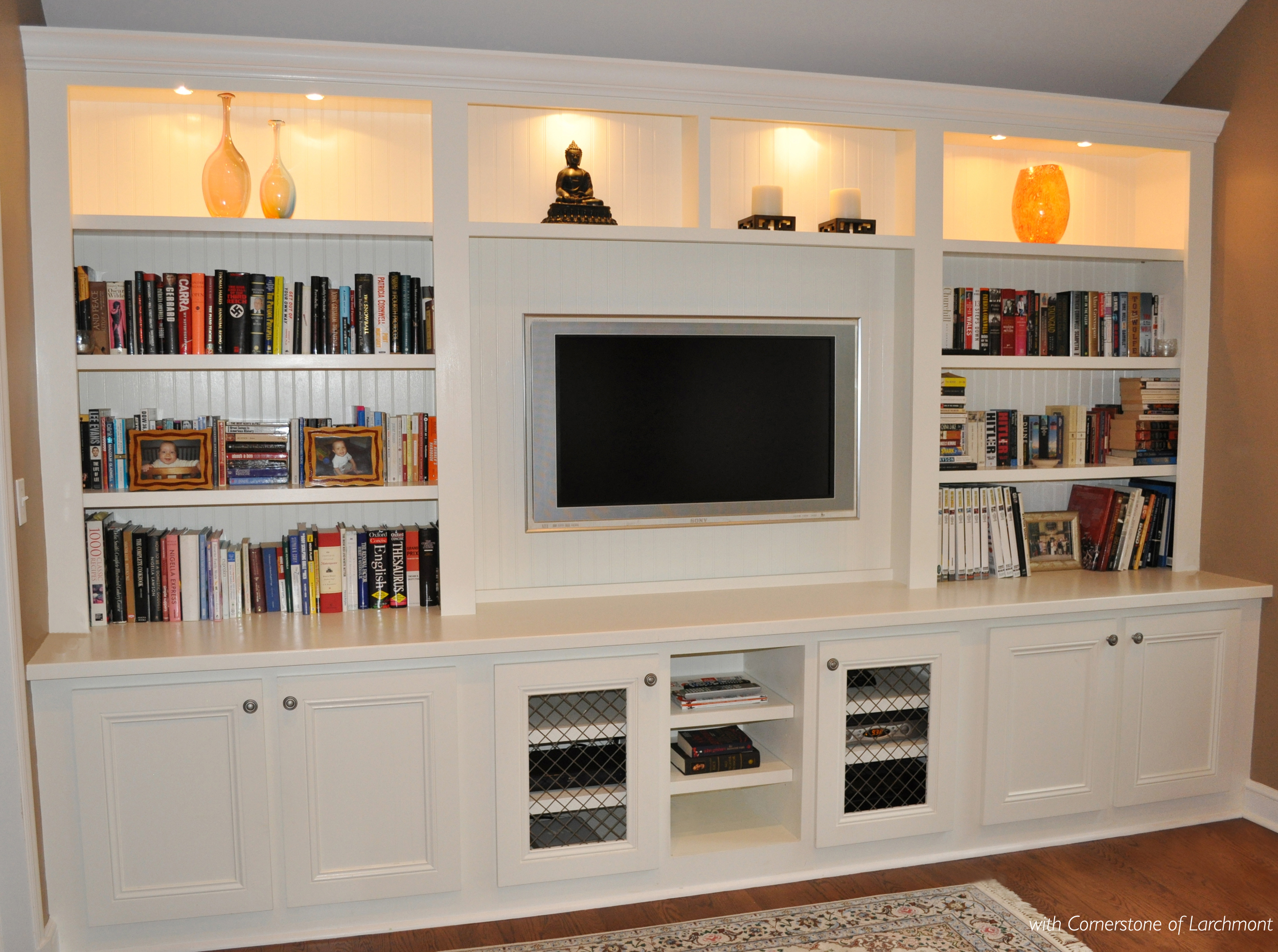 Family Room Built-in AFTER_Custom Millwork_Custom Cabinets_Bookshelves_Kim A Mitchell Interior Designer with Cornerstone of Larchmont.jpg