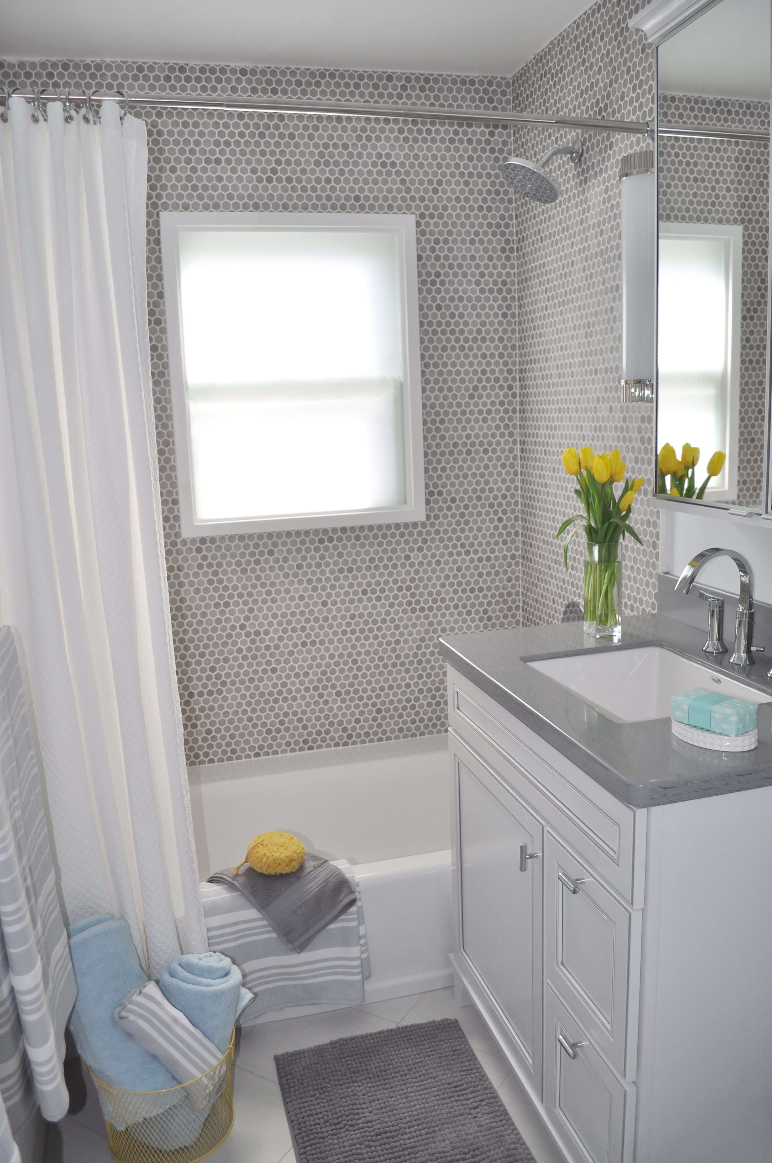 Kim Mitchell Production Designer_HGTV_Buying and Selling with The Property Brothers_Season 3_ Episode 316_Bathroom Renovation_Shoer Bath_Shower bath combination_Bathroom Design_Grey Bathroom.jpg