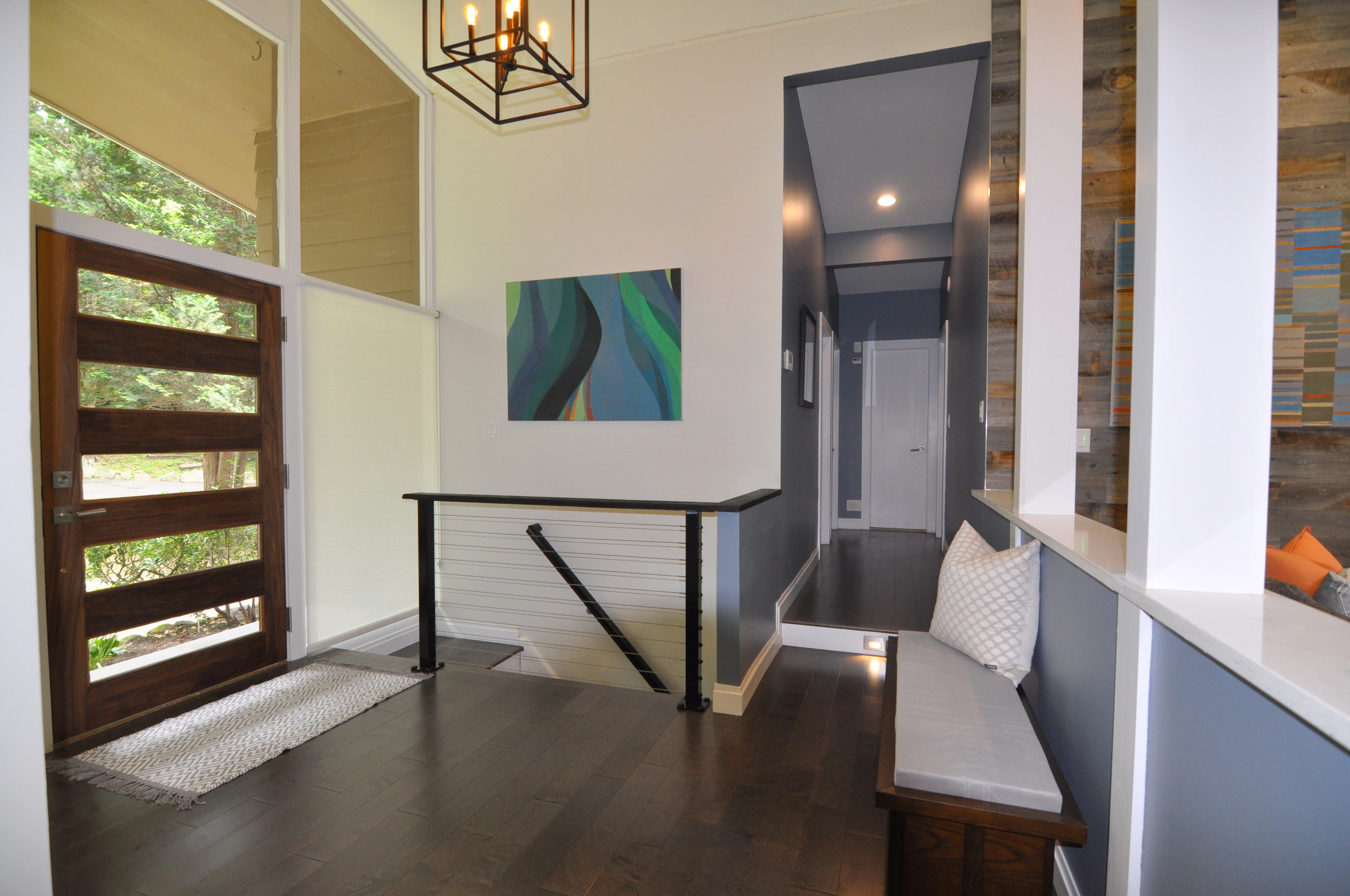 Kim A Mitchell_Design Lead_HGTV_The Property Brothers_Modern Entry_5-Light Wood Door_Wire Railing_Kenise Barnes Fine Art_2017.jpg