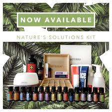 The Natures Solution kit is perfect when you have decided to overhaul your lifestyle to be healthy and chemical free.    RRP over $1100, plus receive a wooden storage box for your oils.  Only $660, including free 12 month wholesale account.  PV (Product Volume) is 400 which earns you the FREE Salubelle if you order before 9am Tuesday 1 July.  Contains:  Petal Diffuser   5 mL bottles:   DigestZen  Purify  Tea Tree  Oregano  AromaTouch  Frankincense  Lavender Peace  Easy Air  Balance   10 mL bottles:   PastTense  ClaryCalm   15 mL bottles:   Citrus Bliss  Lavender  Lemon  Peppermint  Slim & Sassy  Lemongrass  On Guard   doTERRA On Guard® Collection:   Beadlets  Toothpaste  Hand Wash with 2 Dispensers   Other Products:   Lifelong Vitality Pack™  DigestZen TerraZyme®  HD Clear®  Foaming Face Wash  Ice Blue® Rub  Fractionated Coconut Oil (4 oz)  Aroma Lite Diffuser  Wooden Box  doTERRA Breathe® Vapor Stick  Correct-X®