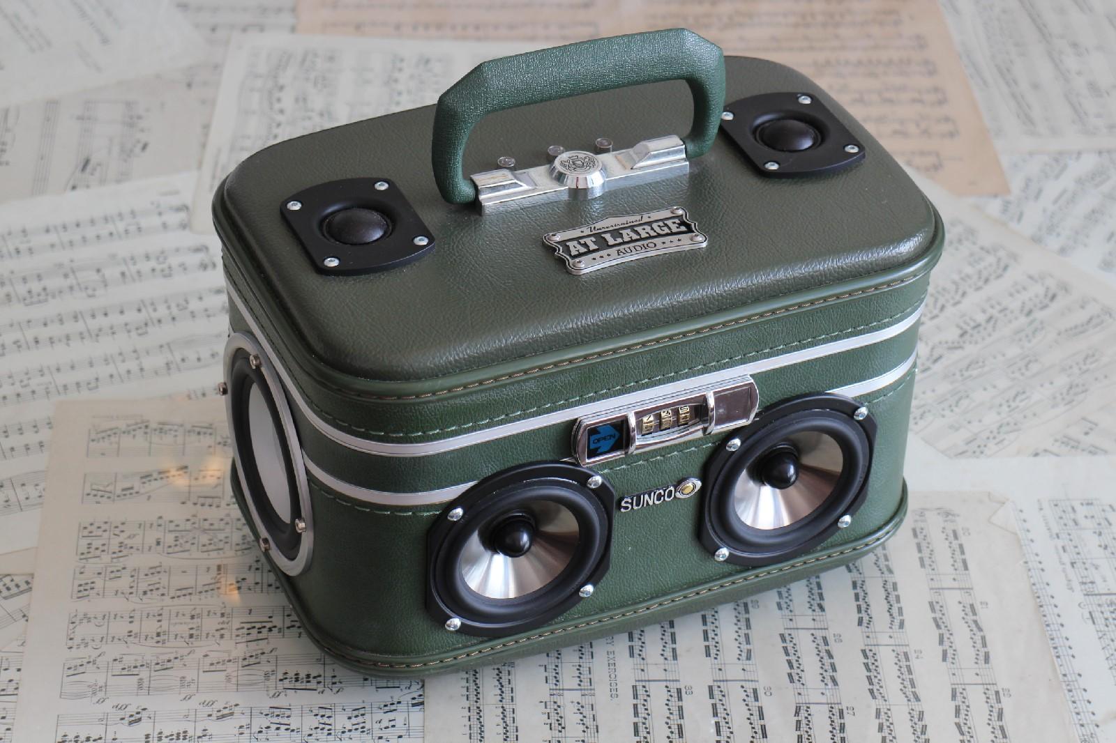 At Large Audio Portable Bluetooth Speaker Suitcase