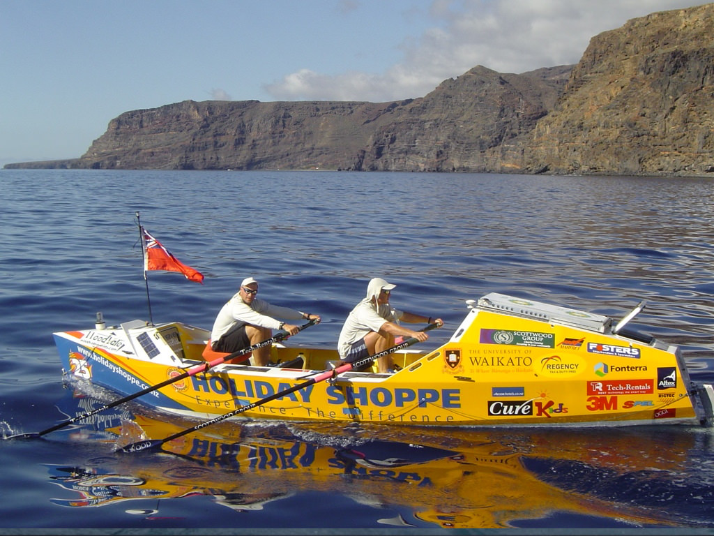 Kevin Biggar and Jamie Fitzgerald depart La Gomera in the the Holiday Shoppe Challenge