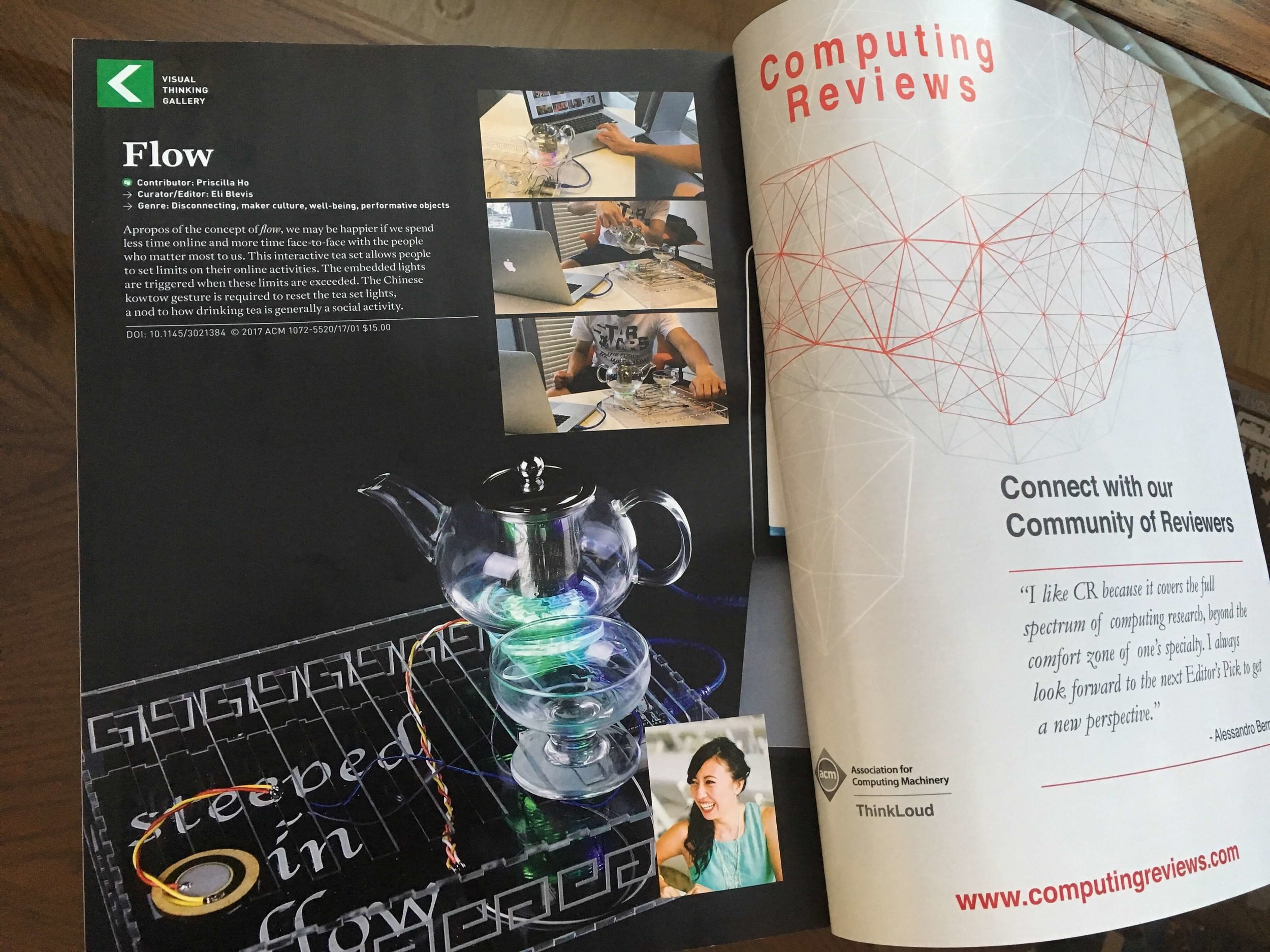 Featured in Visual Thinking Gallery in ACM Interactions Magazine (Jan-Feb 2017)