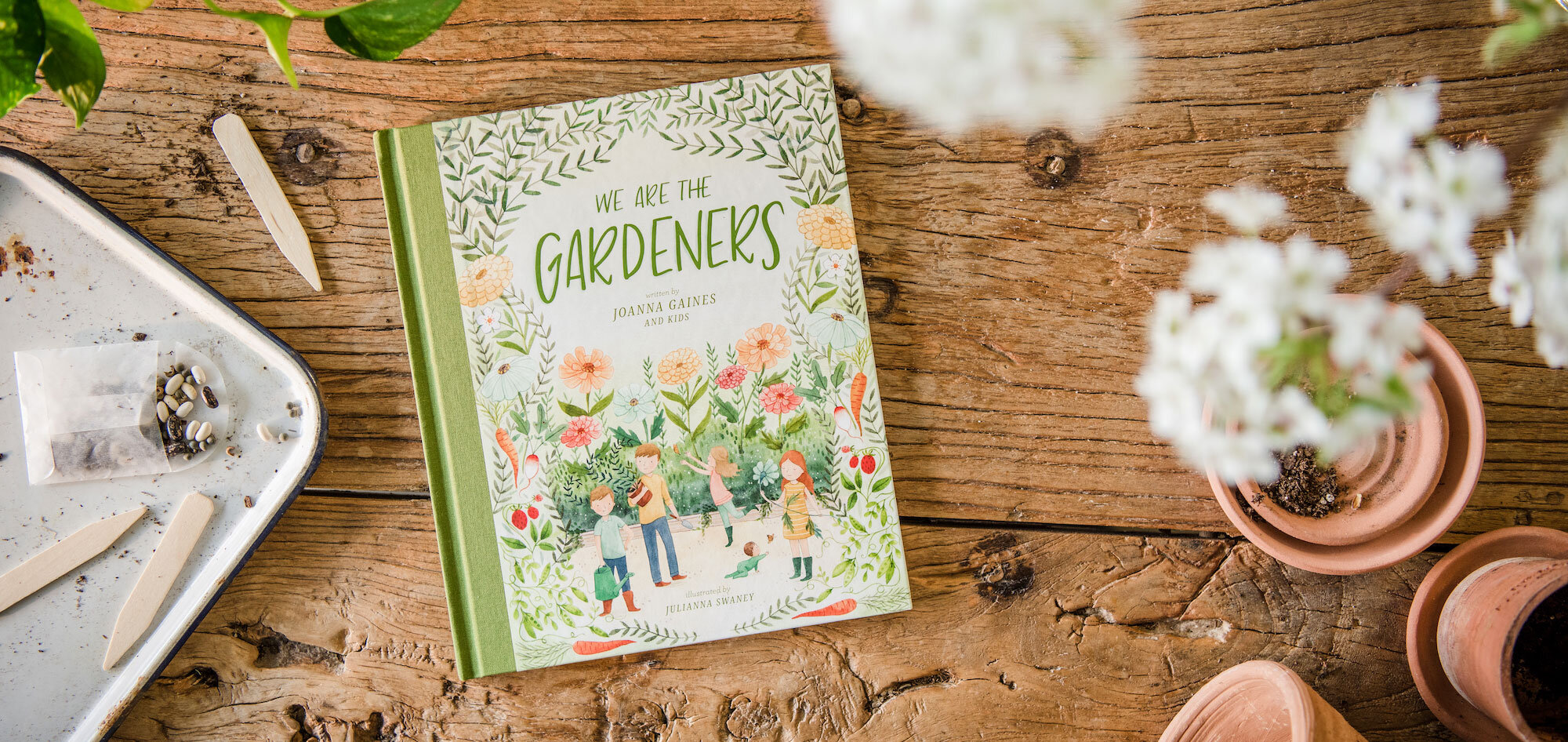 We Are The Gardeners - written by Joanna Gaines // Client: Harper Collins // Project Type: Hand-lettering on cover