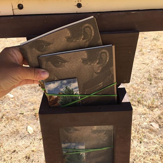 """Restocking the interpretive guides with """"It's Nothing Personal"""" by Katie Hargrave  #lesliegulch #findyourpark #nps #nps100 #parkscanada @neaarts @nationalparkservice @katie_hargrave_"""