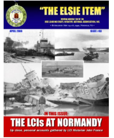 "As written about in the LCI Association newsletter Elsie Item Issue #105 June 2019: ""LCI 85: The Four-Leaf Clover"" by John France, USS LCI National Association Historian http://usslci.org/archives/ -"