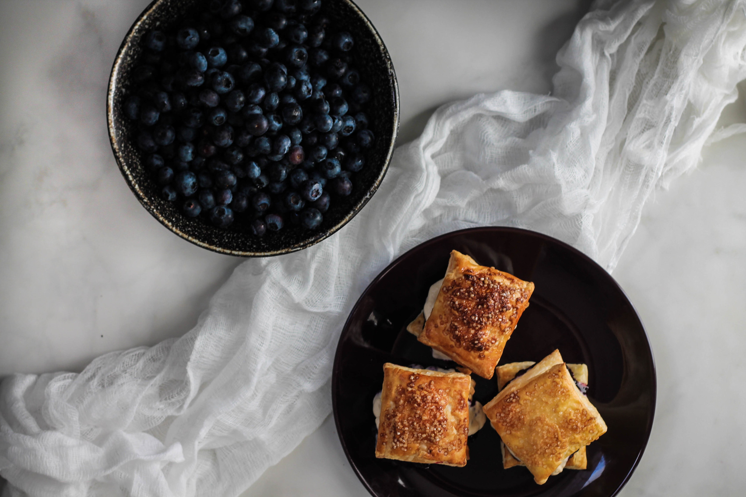 Blueberry Earl Grey Puff Pastries (Passion Flakies) || Cream + Honey