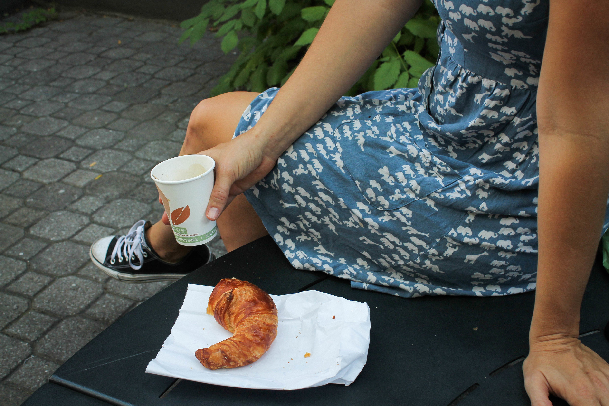 Coffee + croissants. One of the things I discovered from backpacking around Europe at 19, was that these two together are a small form of perfection in everyday life.