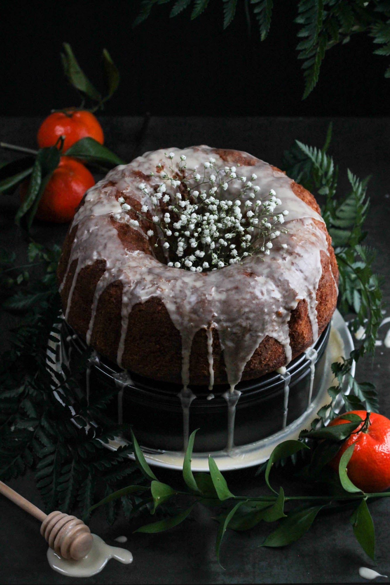 Tangerine Olive Oil Bundt Cake || Easy to make + perfect for serving at parties with coffee or tea. Moist and simple, dairy free, one bowl method. || creamandhoney.ca