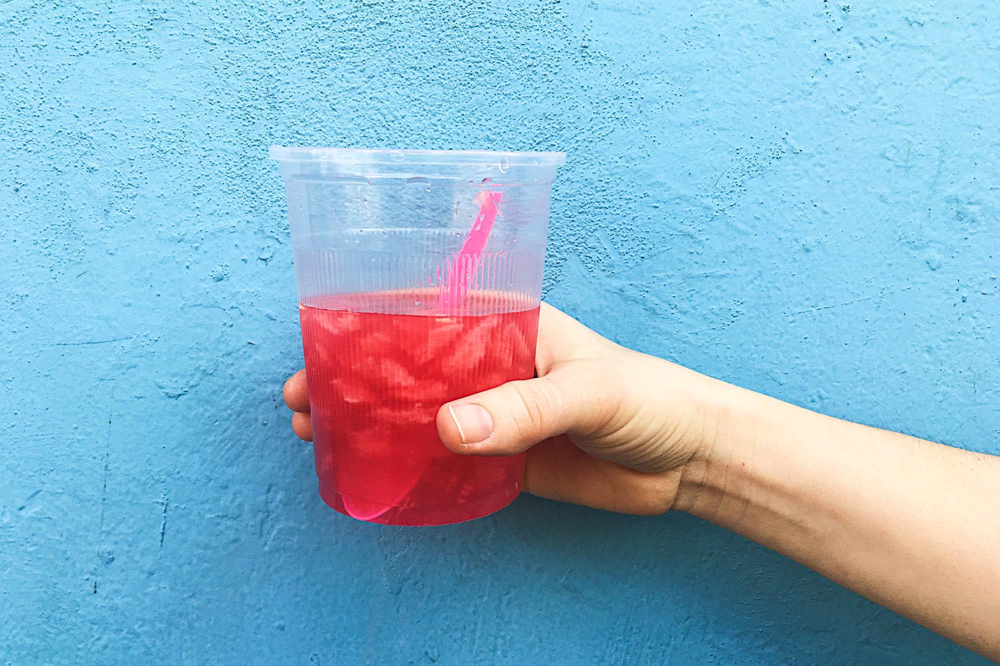 Agua de Sandia (watermelon juice)