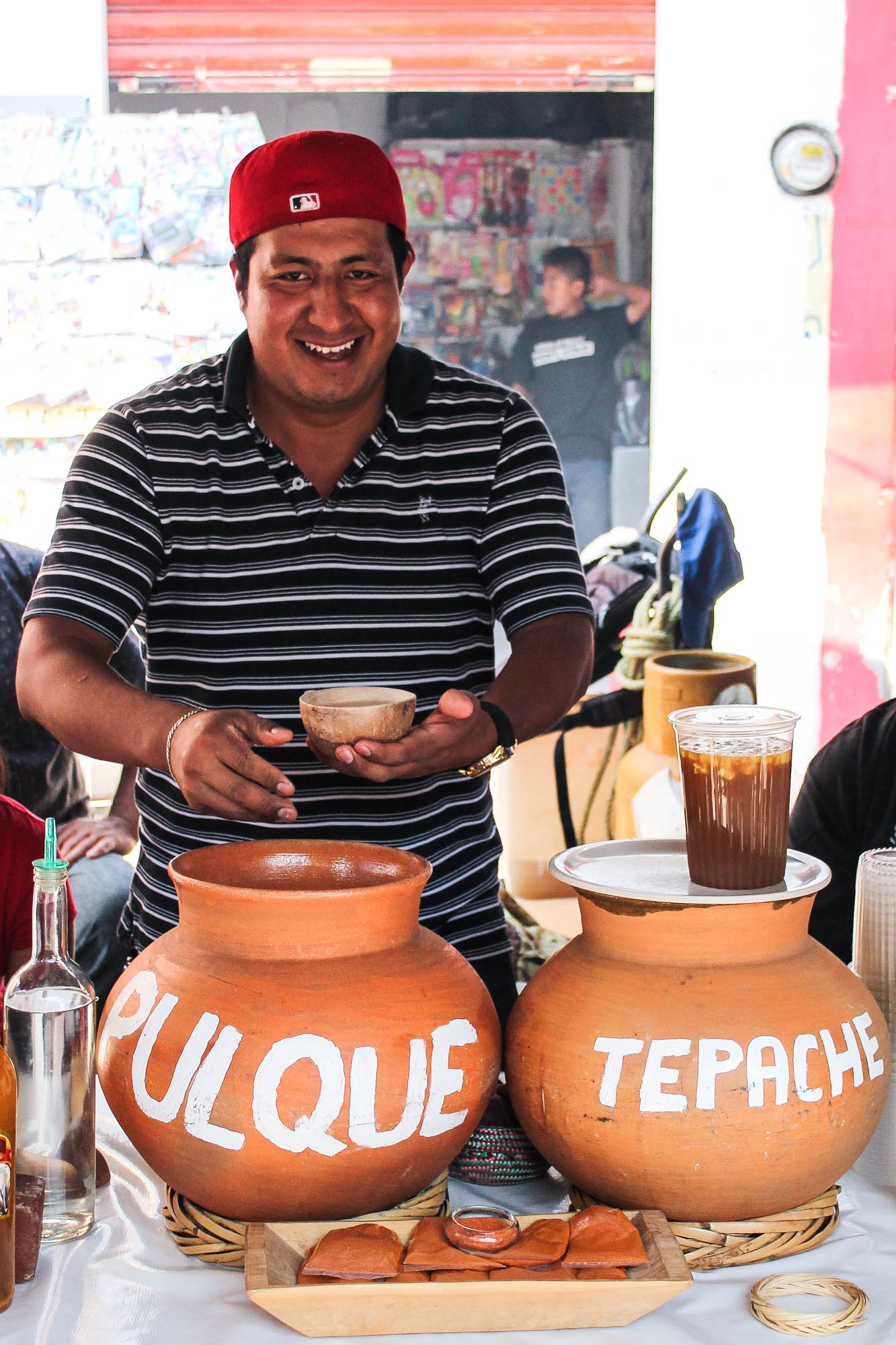 This lovely + happy human at Tlacolula market