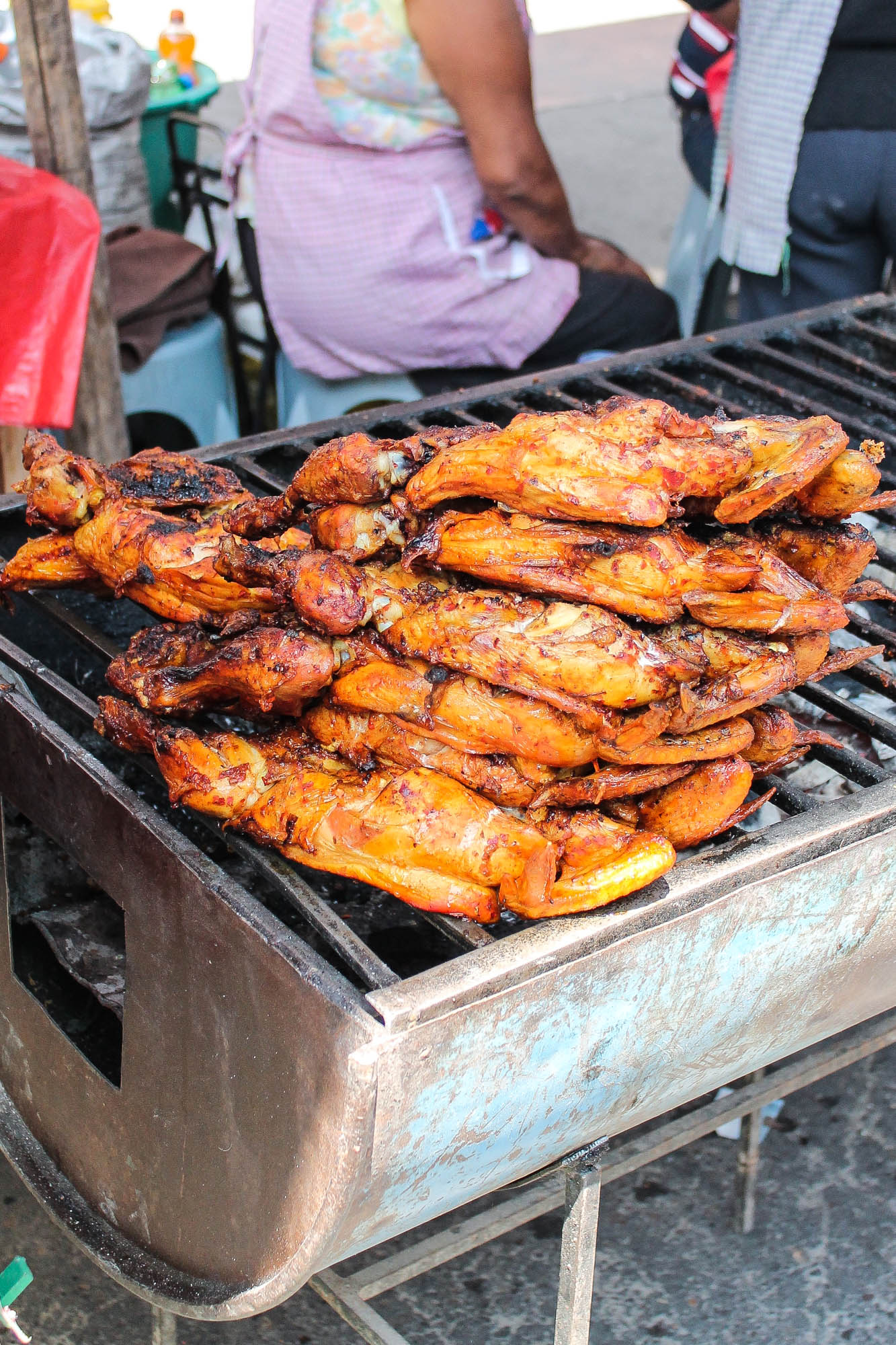 barbecued chicken at Tlacolula market || OAXACA CITY, MEXICO FOOD GUIDE || creamandhoney.ca