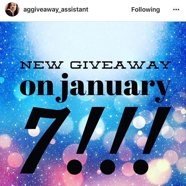 January 7th kicks off this years first giveaway's!! Follow @alyssagalarza @aggiveaway_assistant 💋