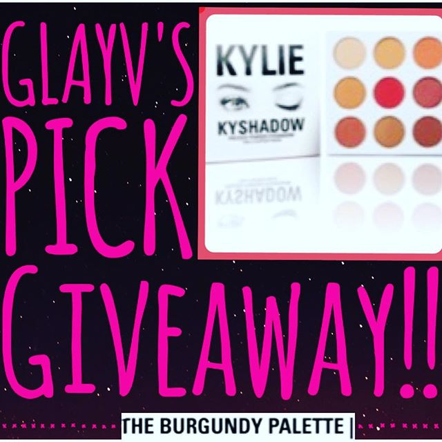 Glayvs picks giveaway is still on the way! The item she has picked is the #kyshadowpalette by @kyliecosmetics #burgundypalette ! She may add more items before the giveaway starts! She will be doing swatches and a look using the palette before the giveaway starts. Make sure you're following her to comment suggestions and show her page some love ❤️💋 @glayvelynx @aggiveaway_assistant  Who's ready?!?