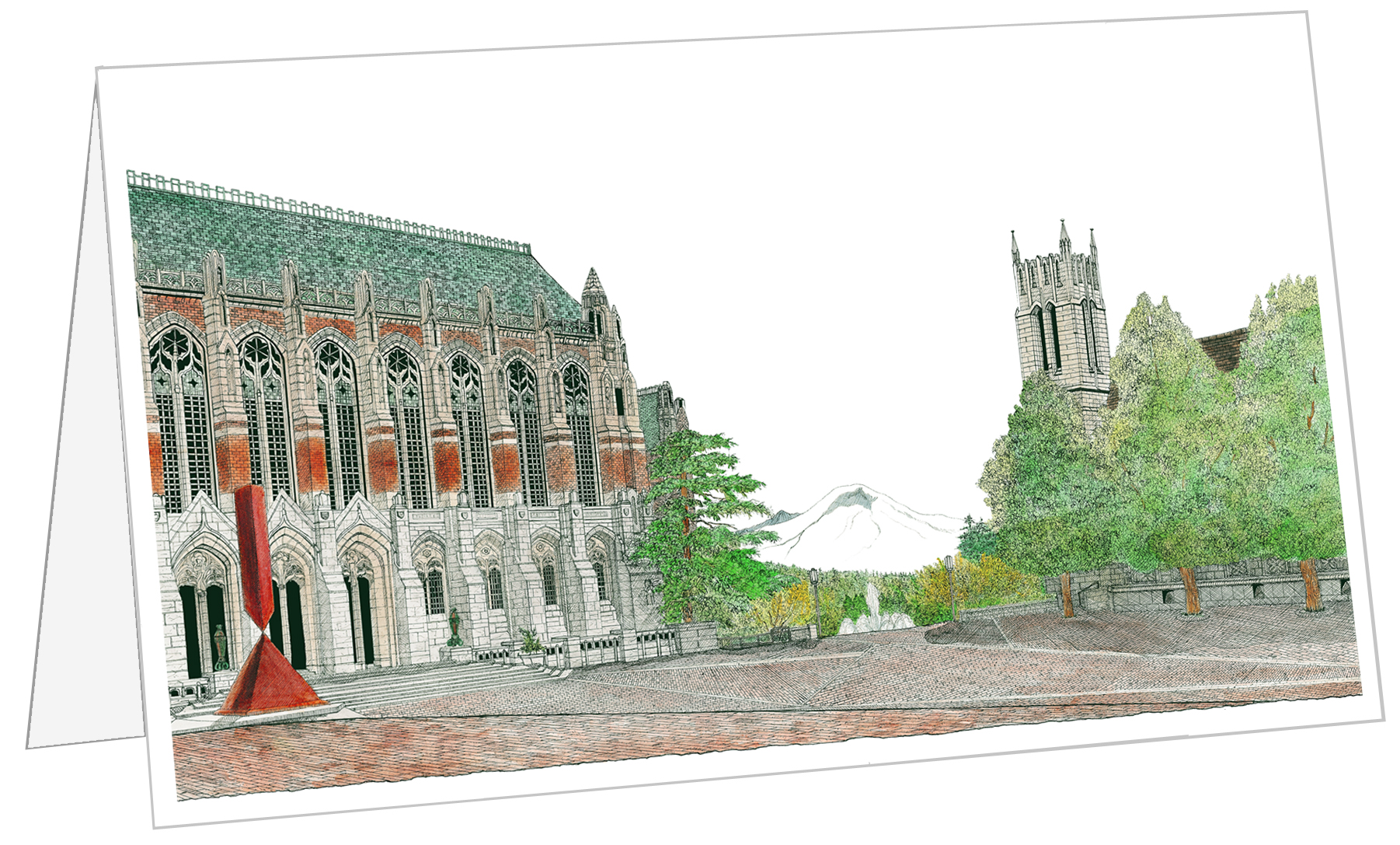 All university images are available to order as  cards  as well.