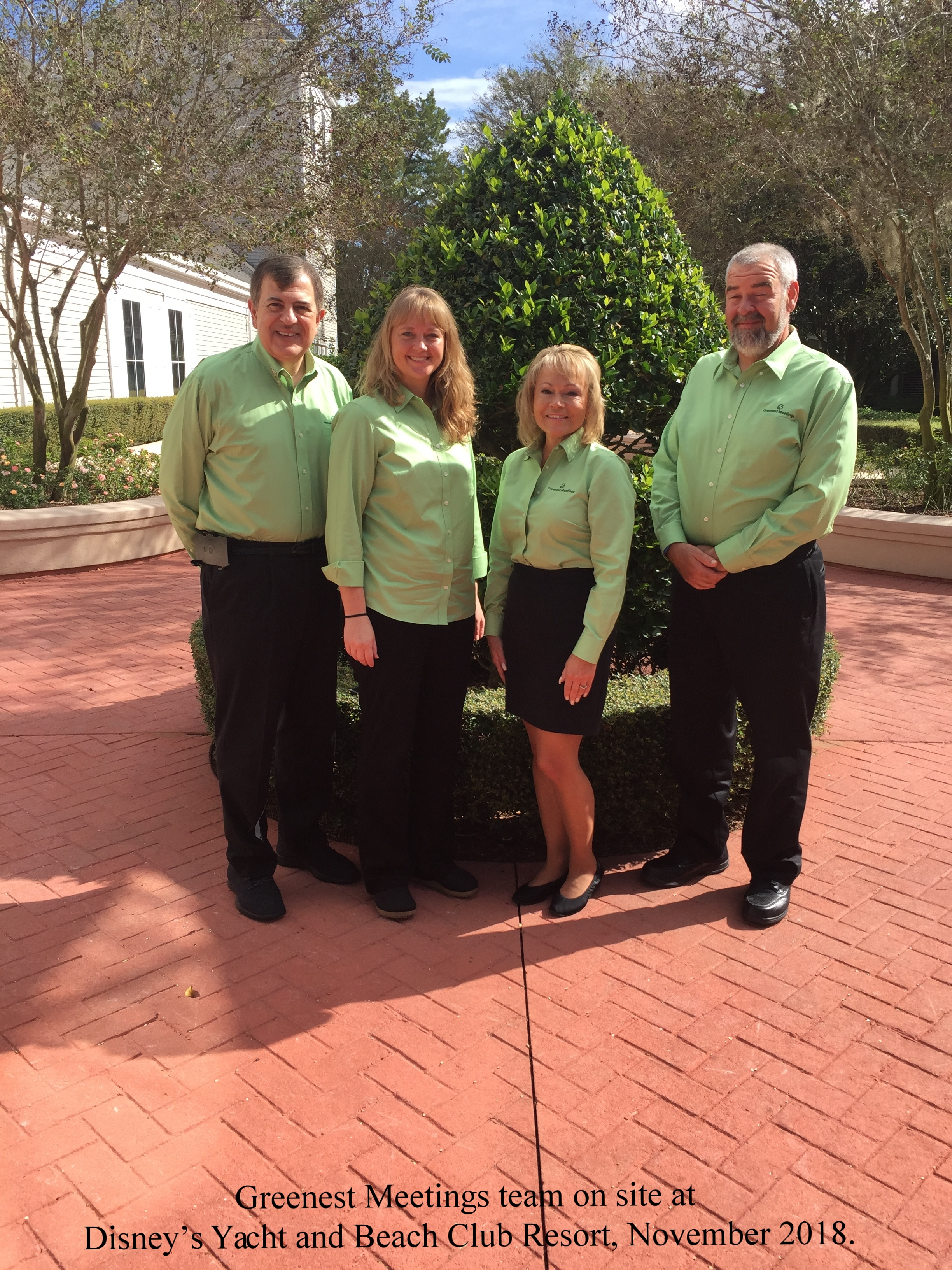 Greenest Meetings team on site at Disney's Yacht and Beach Club Resort, November 2018.