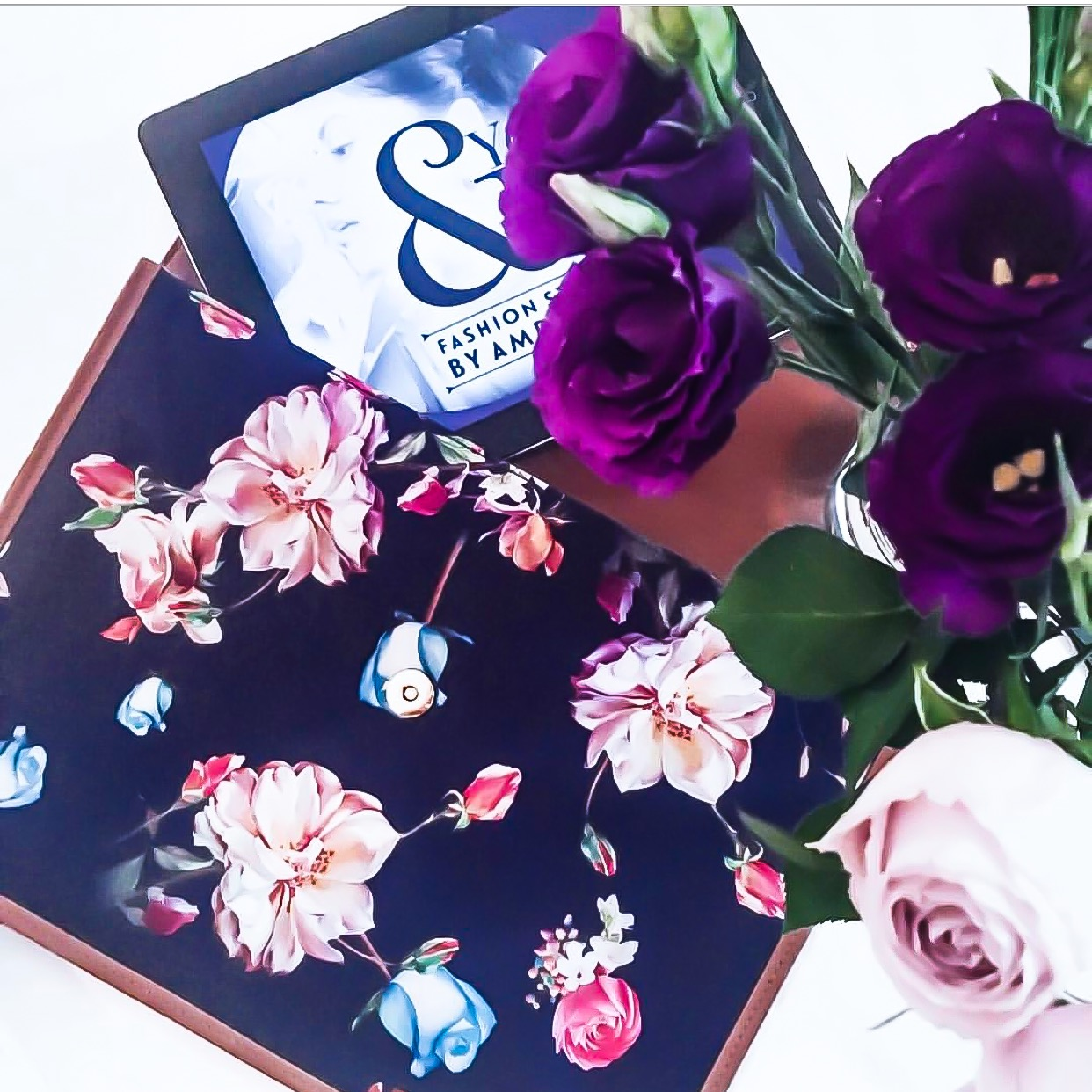"""Pretty flowers and pretty colours make a day much brighter and happier and as I say, """"Happy Mummy, happy family."""" Life is all about small things that matter in bringing happiness on every path one walks.  Envelope Floral Clutch by Mash Accessories    https://m.facebook.com/mashaccessoriesaustralia/shop/   Gorgeous Floral Arrangement by Blossom Co   http://instagram.com/theblossomco"""