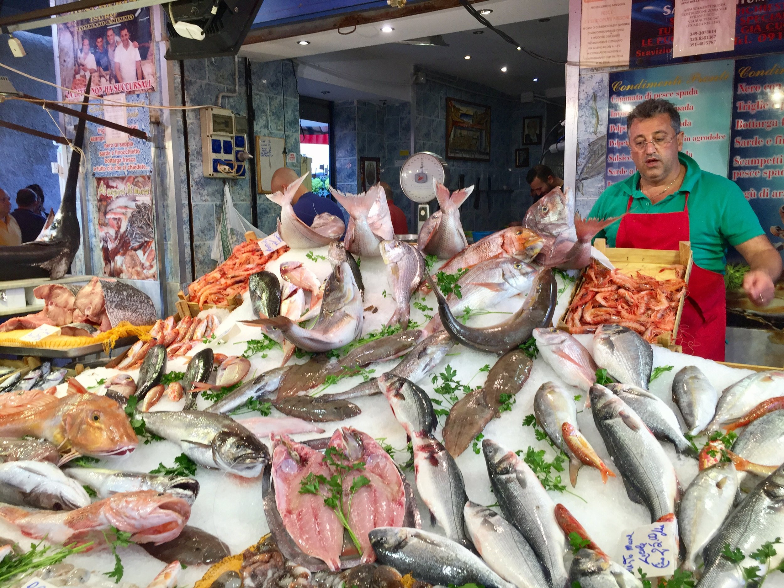The Sicilians take their markets very seriously - check out the daily catch at the Capo in Palermo! I fell in love with their fresh grilled calamari
