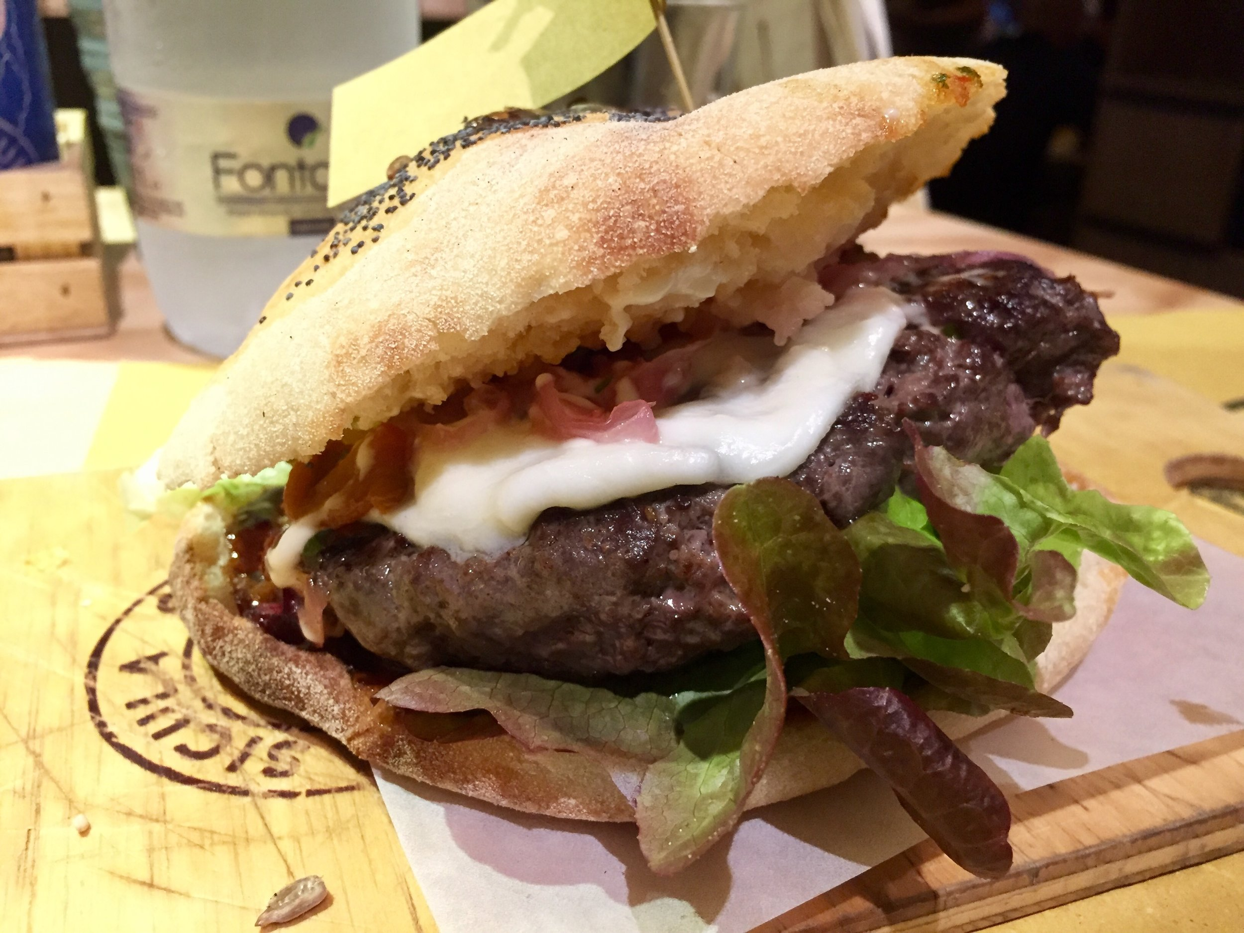 The epic burger at Fud in Palermo (can find this eatery in Catania too) - proudly made with Sicilian meat, cheese and produce