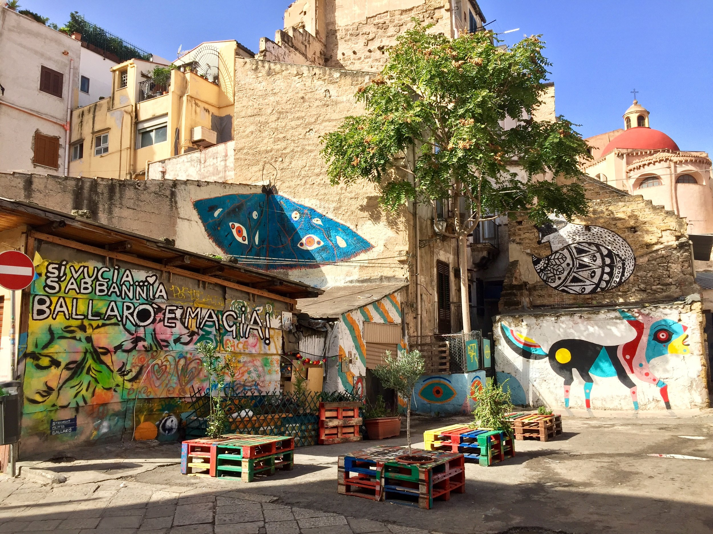 To me Palermo was like an outdoor art gallery with vibrant street art displayed on the old stone walls