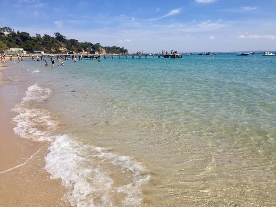 Take a dip at one of the many beaches along the Mornington Peninsula - this one is Shelley Beach in Portsea