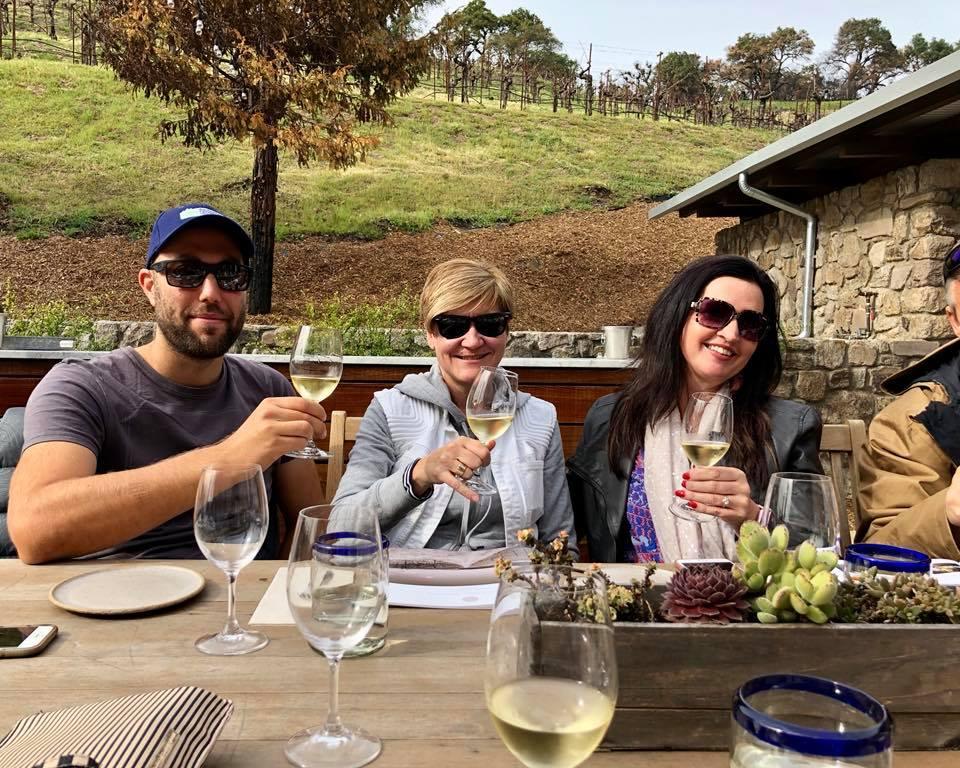 Wine tasting and food pairing at Certified Organic winery  Robert Sinskey  in Napa