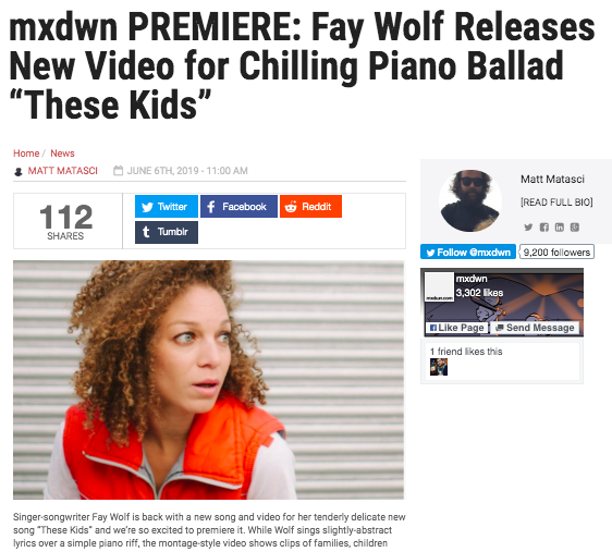 Click on image to read up on the song + watch the video premiere.