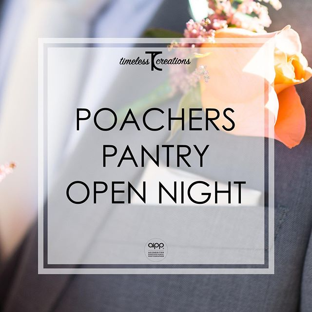 In 1 week from today, we will be returning to the Poachers Pantry Open Night!⁠ That's right! We wouldn't miss it for the world!⁠ ⁠ This your chance to meet us in person and chat about everything you could possibly want! (And your wedding if you so desire. 😉)⁠ ⁠ You'll get to see the work we do, hear all our stories to date, and best of all, you'll absolutely receive a discount for your wedding day!⁠ ⁠ So what have you got to lose by coming to say hi? Come experience the difference Timeless Creations makes to your wedding day!⁠ ⁠ #partofyourcircle #TimelessCBR #timelesscreations #aipp #aippAccreditedPhotographer #Canberra #Weddings #CBR #CBRweddings #canberraweddingphotographer #weddingphotography #love #ido #chapel #rings #bride #groom #smile #photographer #lovewhatyoudo #lovestory #fun #happy #relaxed #candid #weddinginspiration #weddingday #brideandgroom #weddingfair #bridetobe