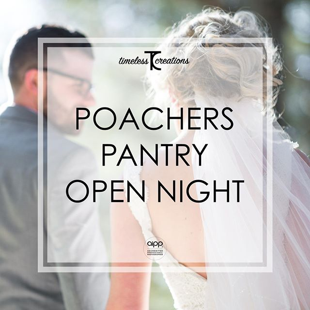 Hey guys! We can't wait to meet you all out at the Poachers Pantry Open Night this Wednesday!⁠ ⁠ It's happening at Poachers Pantry from 6:30pm to 8:30pm. So make sure you put this one in your diaries!⁠ ⁠ See you there!⁠ ⁠ #partofyourcircle #TimelessCBR #timelesscreations #aipp #aippAccreditedPhotographer #Canberra #Weddings #CBR #CBRweddings #canberraweddingphotographer #weddingphotography #love #ido #chapel #rings #bride #groom #smile #photographer #lovewhatyoudo #lovestory #fun #happy #relaxed #candid #weddinginspiration #weddingday #brideandgroom #weddingfair #bridetobe