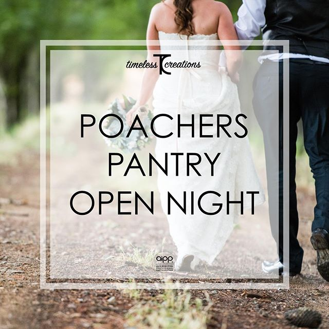 In case you missed it, here it is one last time!! We can't wait to meet you all out at the Poachers Pantry Open Night tomorrow!⁠ ⁠ It's happening at Poachers Pantry from 6:30pm to 8:30pm. So make sure you put this one in your diaries!⁠ ⁠ Don't miss your opportunity to experience the difference Timeless Creations makes to your wedding!⁠ ⁠ #partofyourcircle #TimelessCBR #timelesscreations #aipp #aippAccreditedPhotographer #Canberra #Weddings #CBR #CBRweddings #canberraweddingphotographer #weddingphotography #love #ido #chapel #rings #bride #groom #smile #photographer #lovewhatyoudo #lovestory #fun #happy #relaxed #candid #weddinginspiration #weddingday #brideandgroom #weddingfair #bridetobe