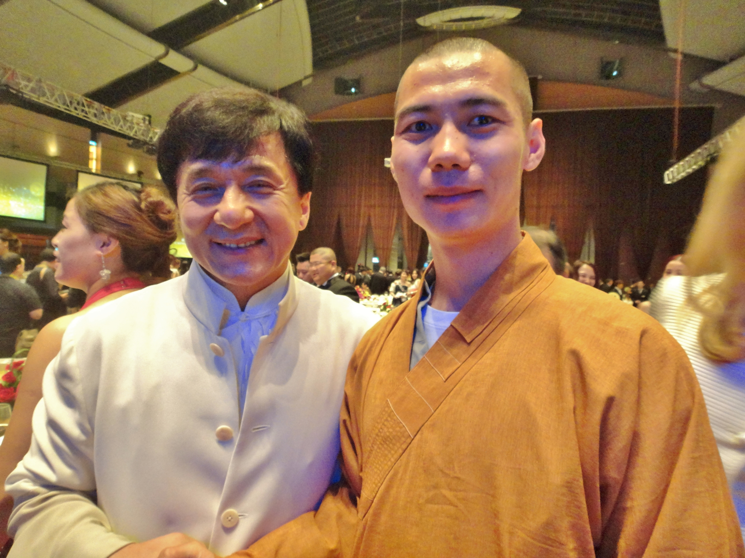 Shi Yanti and Jackie Chan