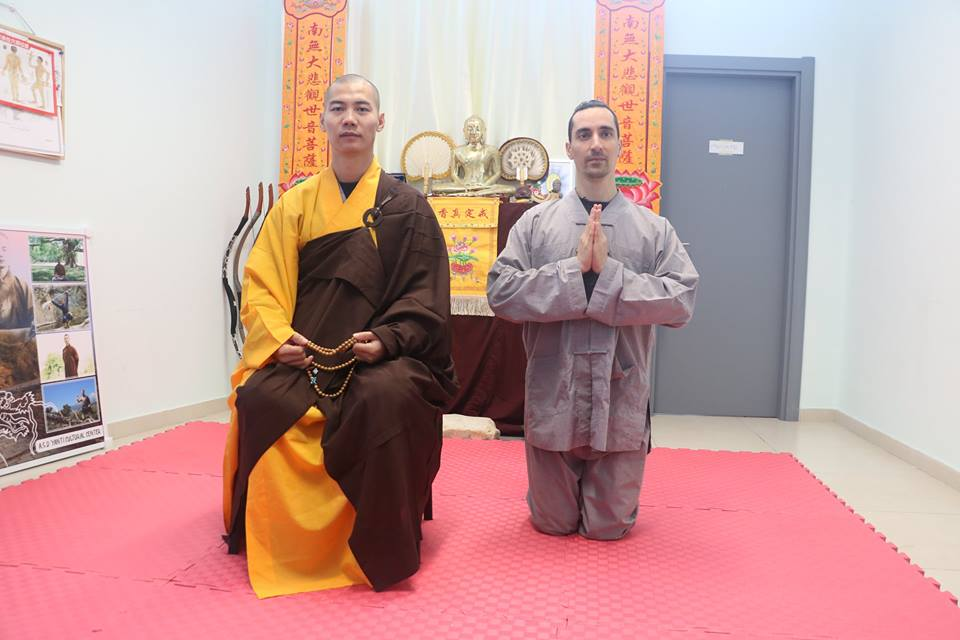 New disciple: Shi Hengzhi 释恒植 35 generation of Shaolin Temple