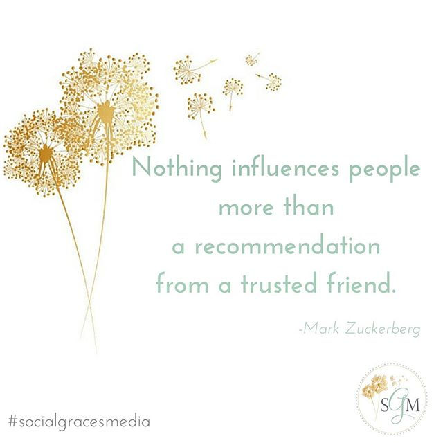 This is 💯! The research supports it, too - people trust brands less & other people (family/friends) more. So, which one is more likely to influence their purchases? Exactly 👭! Brands are aware - hence the wave of #influencermarketing on social media. These partnerships have proven invaluable & are becoming more & more common. If you are interested in learning more about how to become an #influencer, click the link in my bio & contact me today!  #socialgracesmedia #brandrelationships #digitalmarketing #socialmediamarketing #brandambassadors #becominganinfluencer