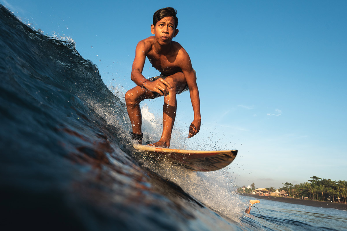 Local Balinese Surfer
