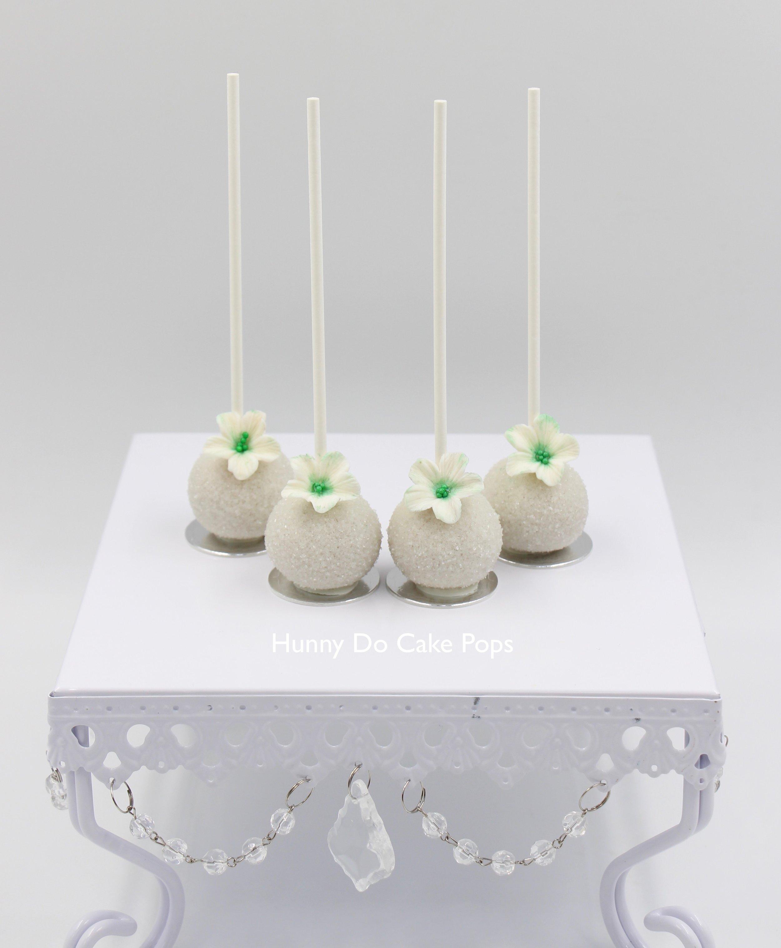 Green flower wedding cake pops HunnyDo 2.jpg
